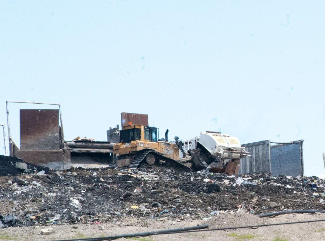 A shot of workers at the Colonie landfill from June, 2017. (Jim Franco/Spotlight News)