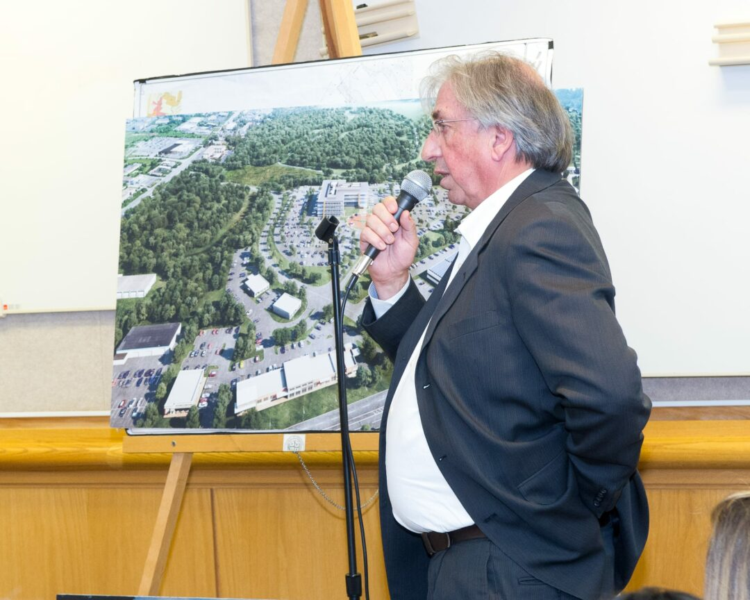 David Buicko, President and CEO of the Galesi Group, pitches a new office building to the Colonie Planning Board last year (Photo by Jim Franco/Spotlight News)