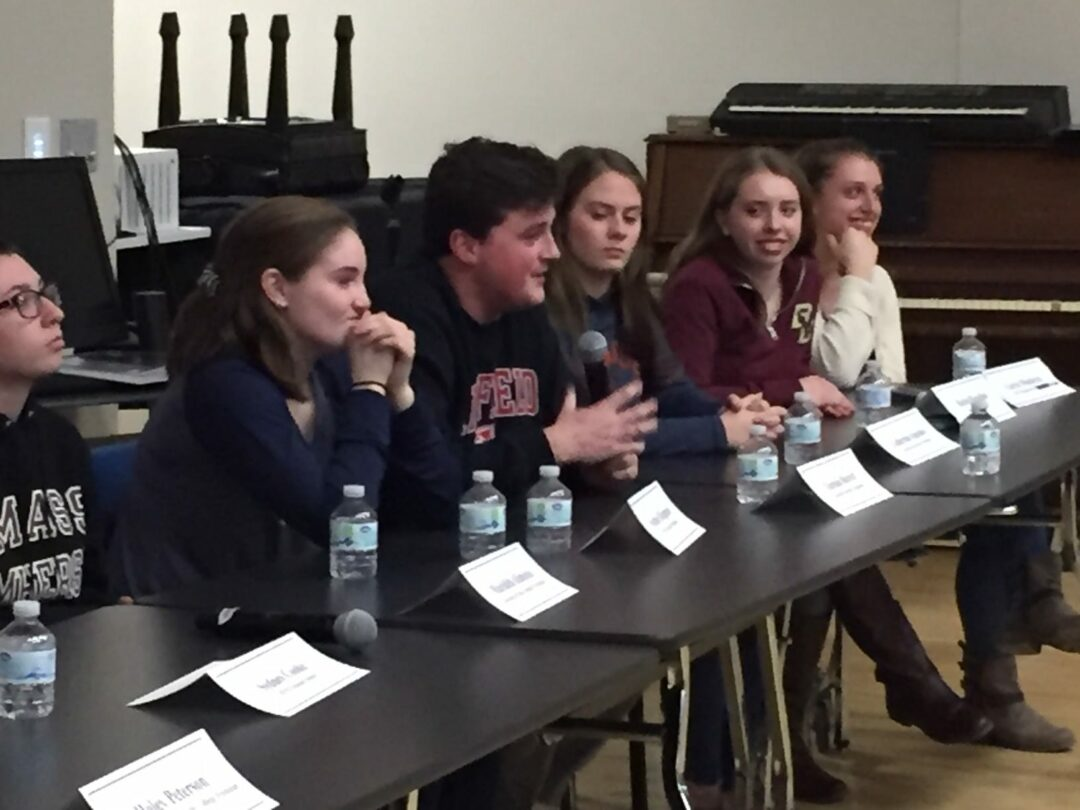 Bethlehem Central alumni return to share their college experience with high school juniors and seniors. (Submitted photo)