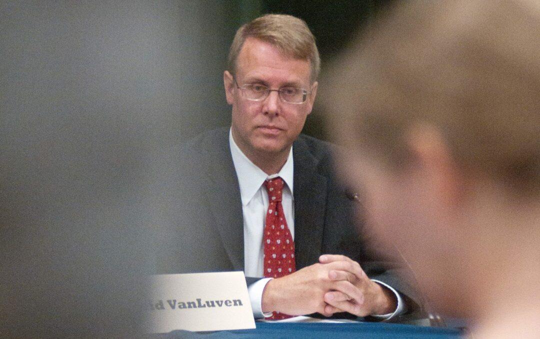 Bethlehem Supervisor David VanLuven, as he appeared during a political forum in October 2017.