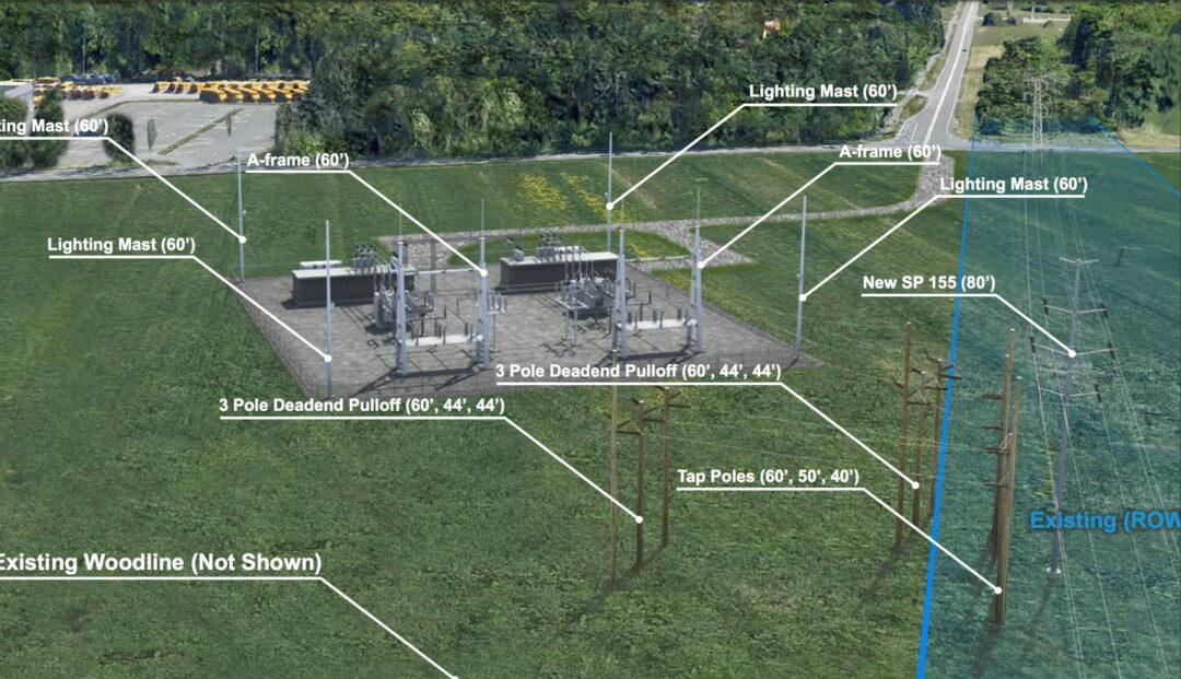 Plans for a new National Grid substation on Van Dyke Road