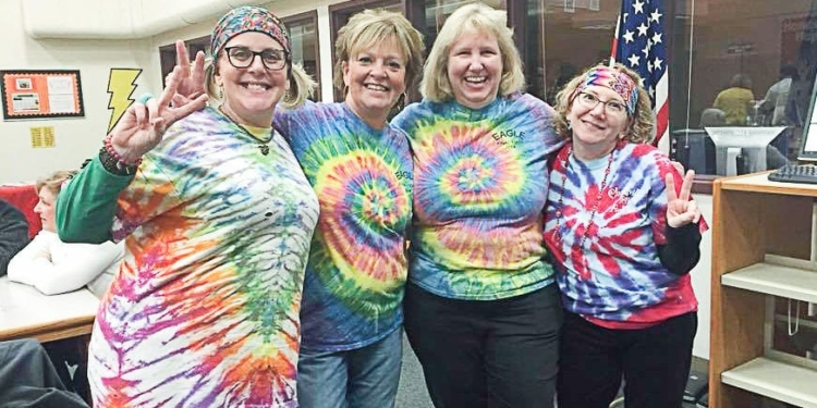 2017 competitors The Hip Bees may not have won the championship spelling title, but these Eagle Elementary ladies won in F-U-N. Photo: BOU