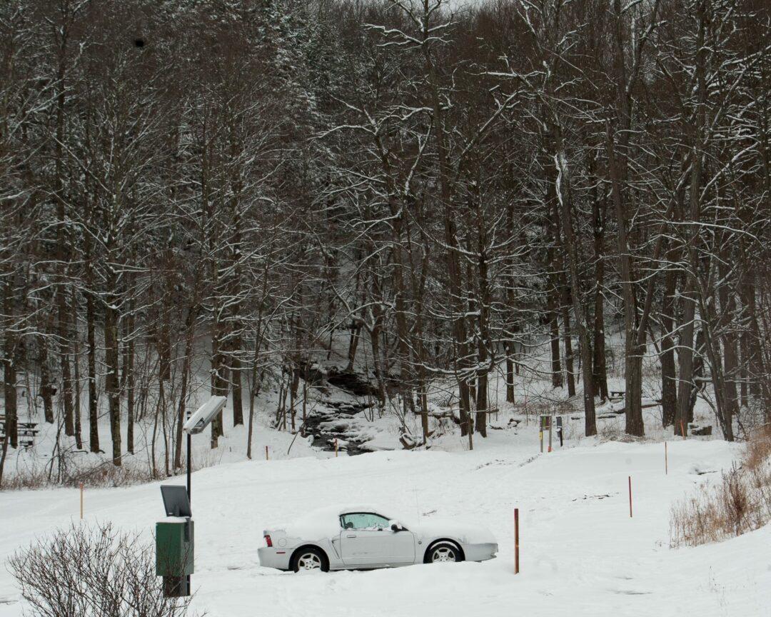 Bruce Decker's car parked at the Paint Mine parking lot. (Photo by Jim Franco/Spotlight News)