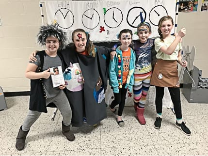 5th grade(L-R):Miriam Nester, Olivia Rother, Kiera Murphy, Riley O'Meara and Levi Loe-Alinger    Photo submitted