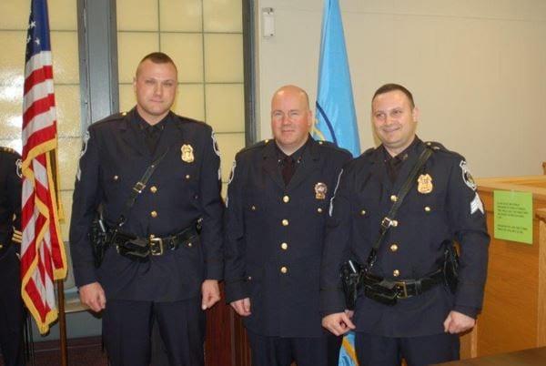 (L-R): Sgt. Robert Baldwin, Det. Sgt. James Cross, Sgt. Michael Cozzy Photo: BPD