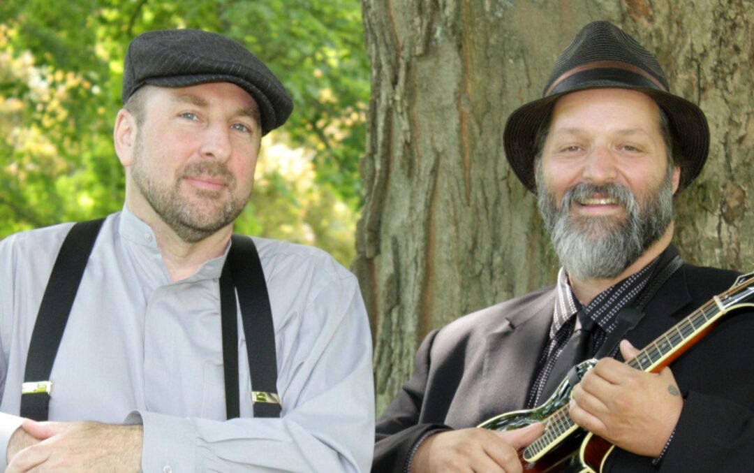 Tom Lindsay, left, and Michael Eck make up the musical duo that is Lost Radio Rounders. Photo by D. Lockrow.