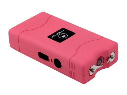 This mini stun gun, the Vipertek VTS-880, is similar to the one confiscated. It can be purchased on Amazon for less than $10.
