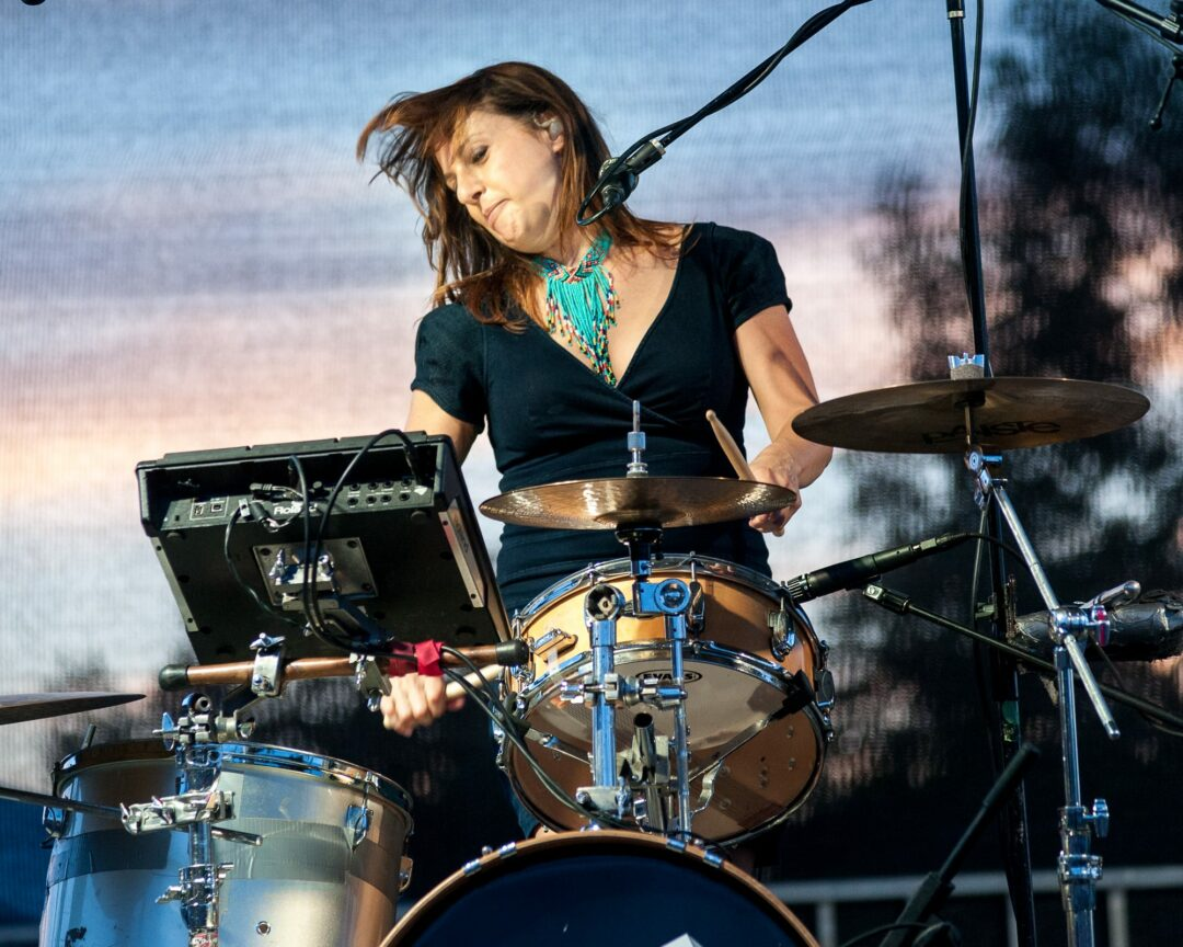 Melanie Krahmer banging on the drums as SIRSY performed at last year's Rockin' on the River in Troy. Photo by Jim Franco / TheSpot518