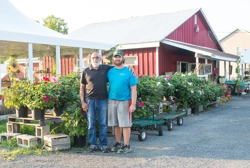 Al Lansing and is son Patrik at Lansing's Farm on Lisha Kill Road. Jim Franco/Spotlight News