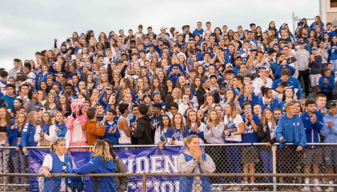 The Shaker student section during a home football game against Guilderland. Jim Franco / Spotlight News