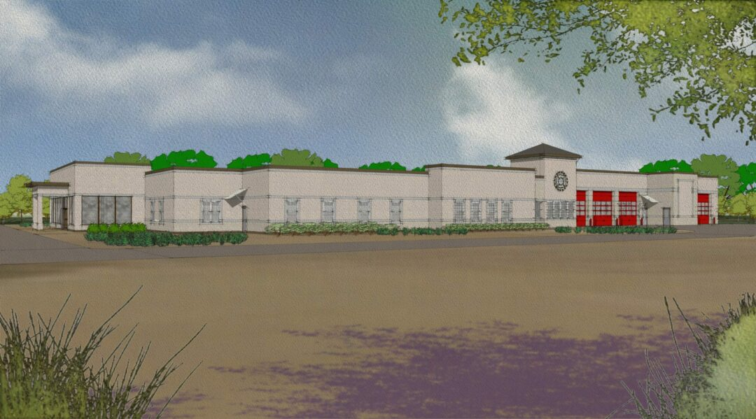 An artistic rendering of what the proposed Selkirk Fire District headquarters building could have looked like. The building was planned to be located along Route 9W beside Albertus W. Becker Elementary School. Submitted photo