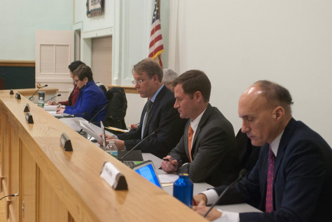 The Bethlehem Town Board looks slightly different for the new year, with the addition of Dan Coffey, right. Diego Cagara / Spotlight News