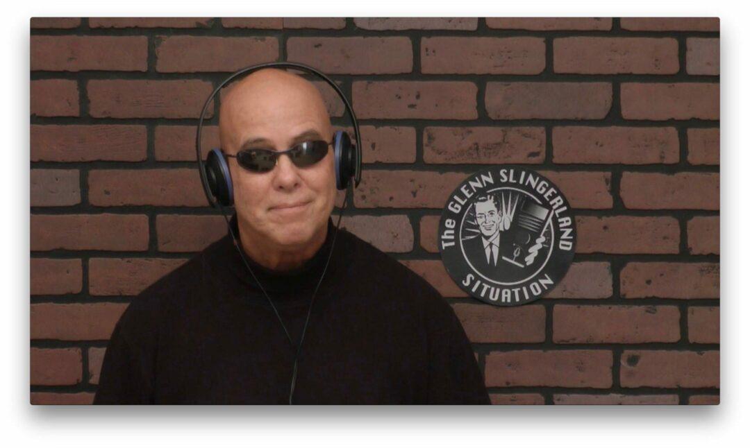 """Glenn Slingerland, in front of the camera of his show, """"The Glenn Slingerland Situation."""""""