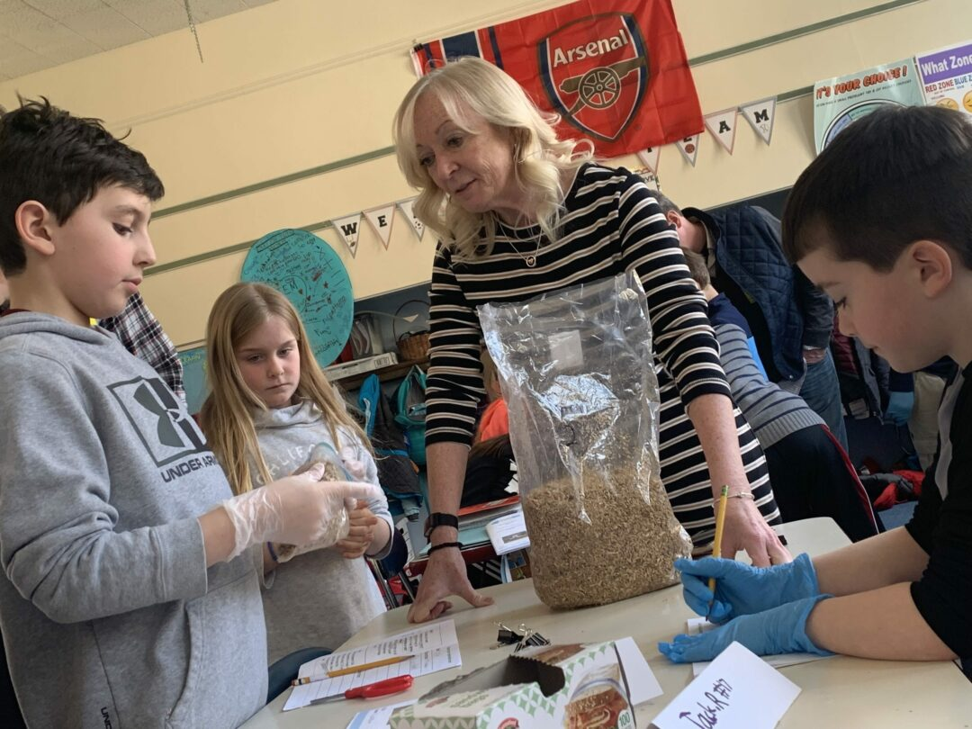 Slingerlands Elementary School teacher Patricia Paradis, center, works with a CreositySpace module to help her third graders get more comfortable and curious with STEM. Diego Cagara / Spotlight News