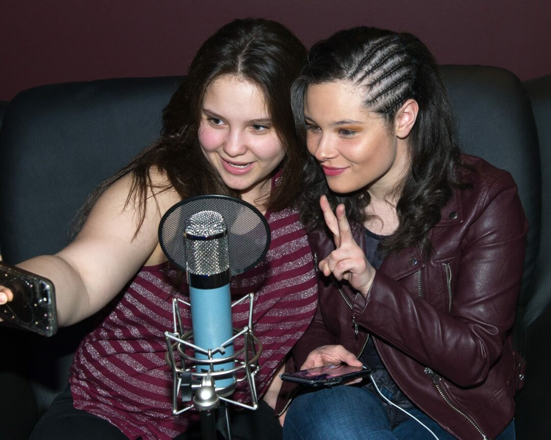 Madison VanDenburg and Moriah Formica at the Modern Day Music School in Clifton Park (Jim Franco/TheSpot518)