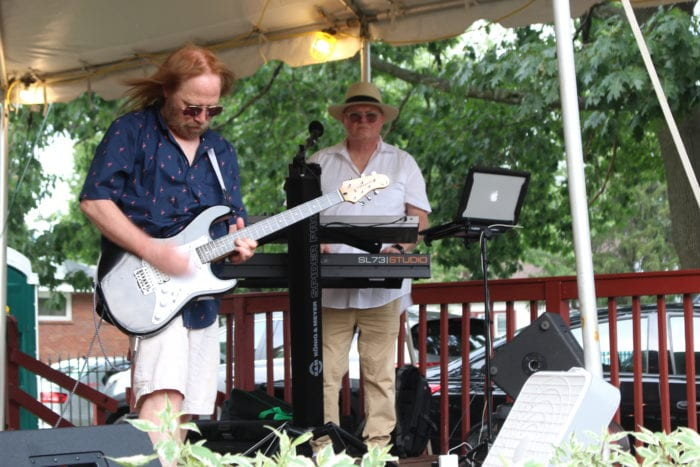 """Johnny Clifford and Matt Donnelly of """"The Broken Hearted: Tom Petty Tribute"""" making their stage debut as part of the 2019 Power's Park Concert Series in Troy, NY 7/20/19. Photo Credit: Amy Modesti"""