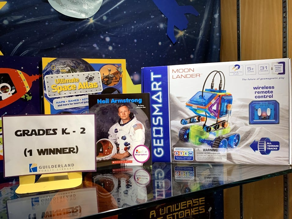 Guilderland's library was decorated with space-themed books, sets and gears for the summer. Diego Cagara  / Spotlight News