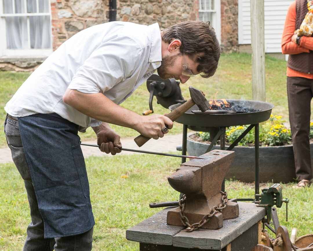 A blacksmith at the 2018 Old Fashioned Sunday at the Pruyn House. Jim Franco / Spotlight News