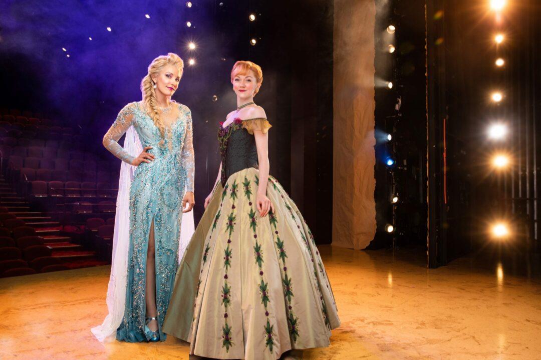 Caroline Bowman as Elsa, left, and Caroline Innerbichler as Anna, right. Photo by Matthew Murphy