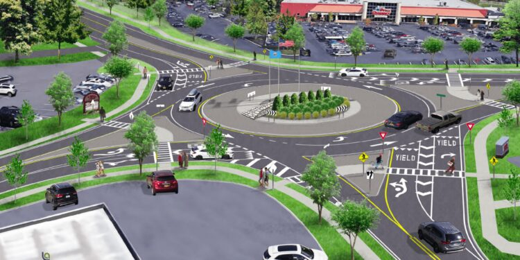 Baker Public Relations will develop a strategic communications plan to benefit residents and businesses living and located near the Glenmont roundabout project's, above, construction zone. This plan will be a template for the town and Chamber of Commerce for other future roadway construction projects.                                                                                                                       Provided photo