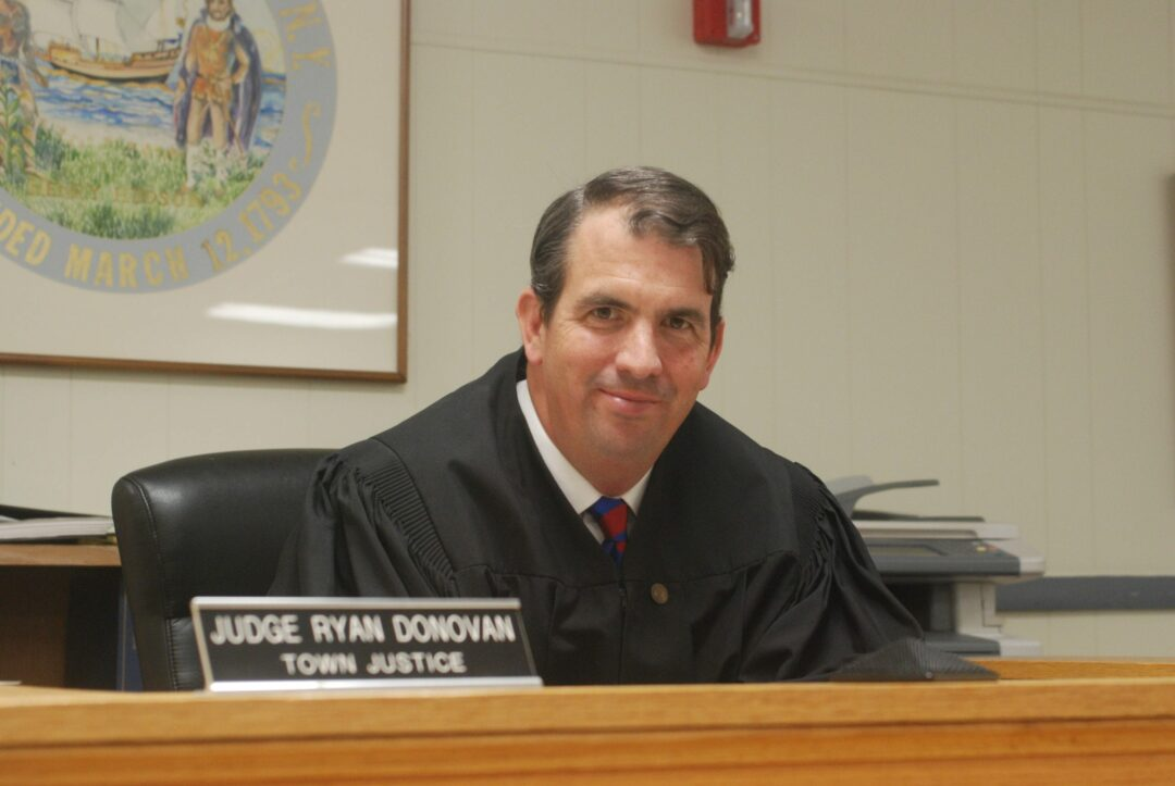 """Town Justice Ryan Donovan, above, said around 10 defendants are now enrolled in the treatment court. Since its inception in 2017, 15 defendants have successfully """"graduated"""" from the program. Diego Cagara / Spotlight News"""
