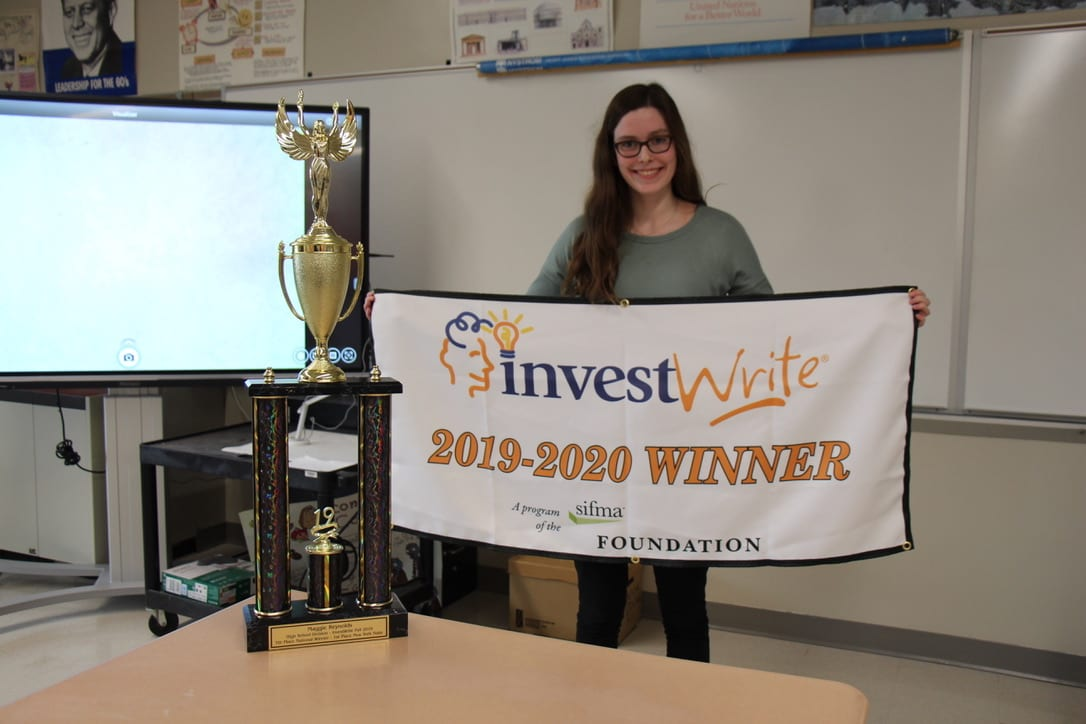 Bethlehem Central High School senior Maggie Reynolds, above, said she was surprised to find out her submitted essay made her win big in the national InvestWrite competition.  Provided photo