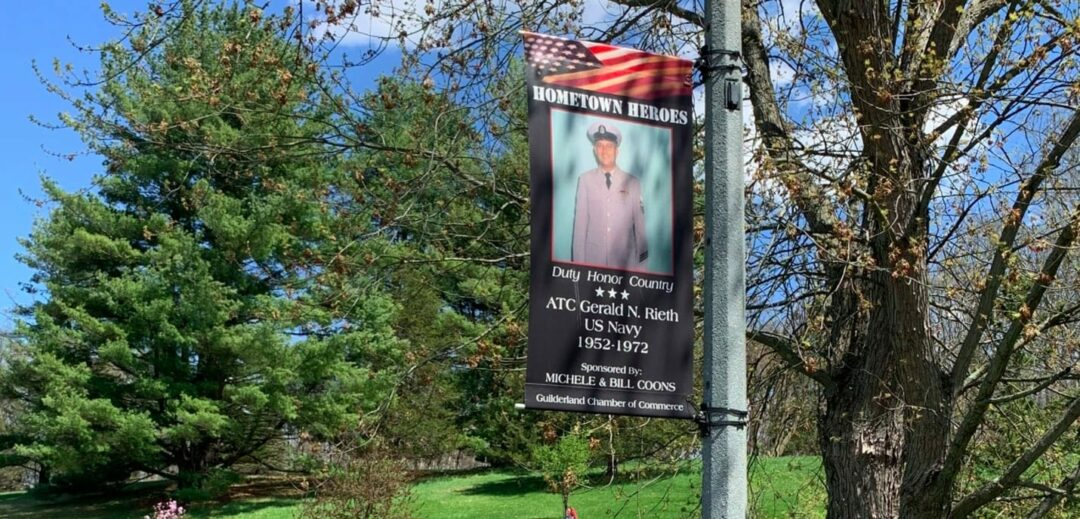 Hometown Heroes banners are now on display throughout Guilderland. Guilderland Chamber of Commerce