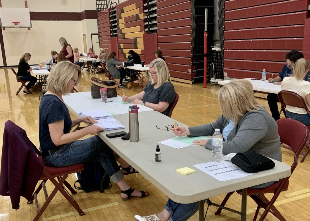South Colonie officials count ballots on Wednesday, June 17 (Photo provided)