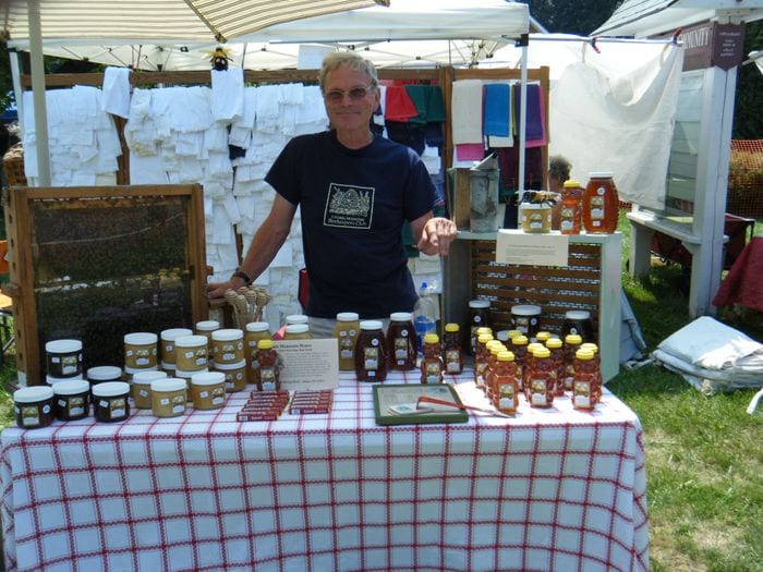 The table for Partridge Farm and Apiary at the Voorheesville Farmers Market from past years. Provided photo