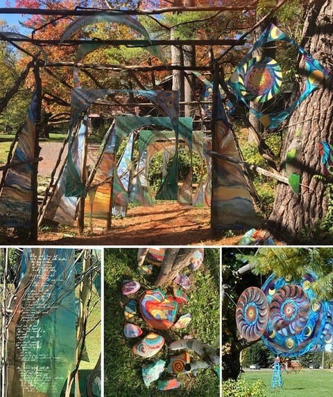 Artist Susan Togut's upcoming installation at the Rail Trail will look similar to these outdoor environments, above, she previously worked on. Provided photo