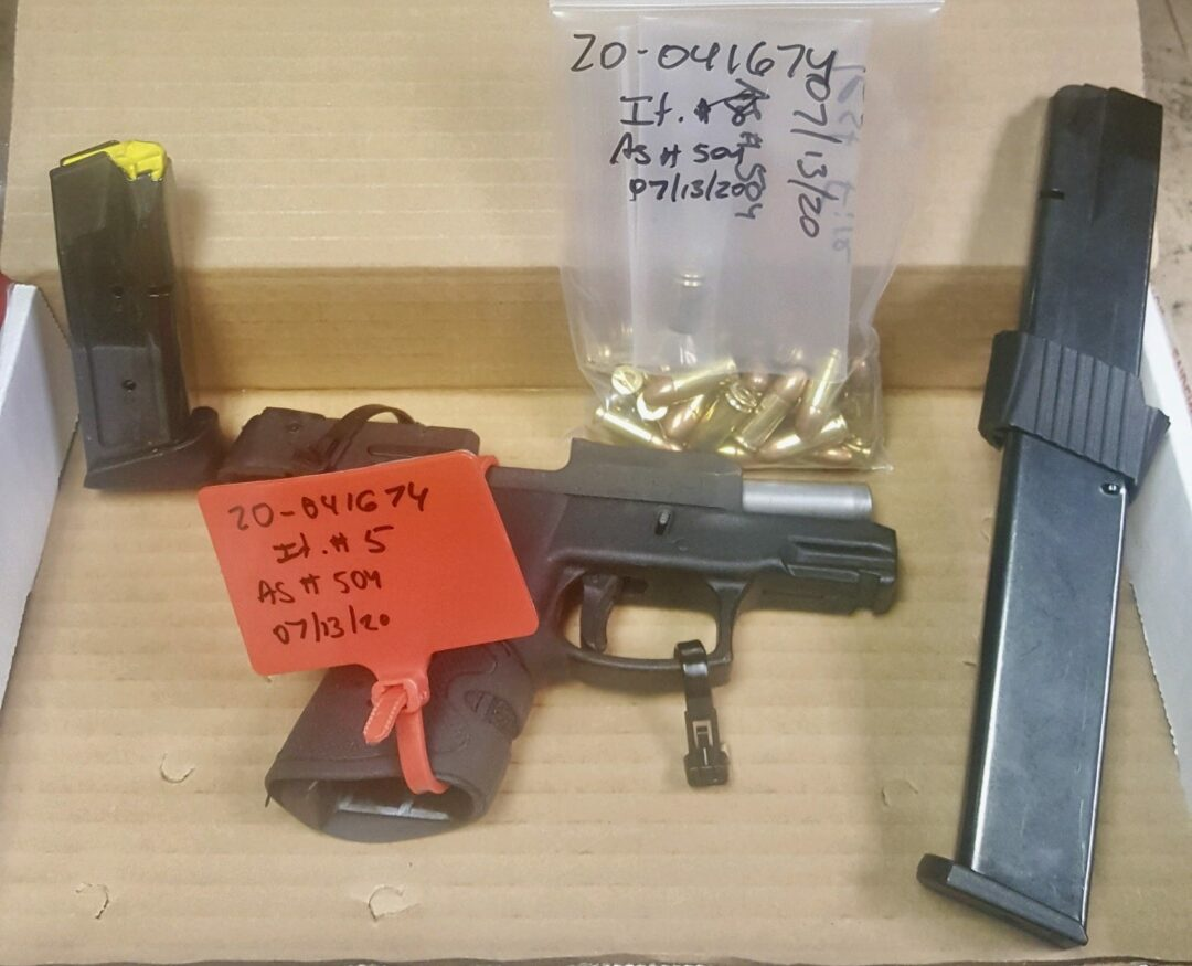 Handgun recovered at the Econo Lodge in Colonie (photo provided)