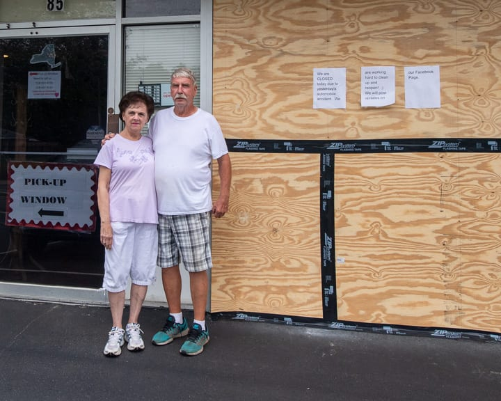 Kathleen and Bill Haas outside of Sweet Willy's Pizzeria on Sand Creek Road in Colonie on Wednesday, Sept. 2. (Jim Franco/Spotlight News)
