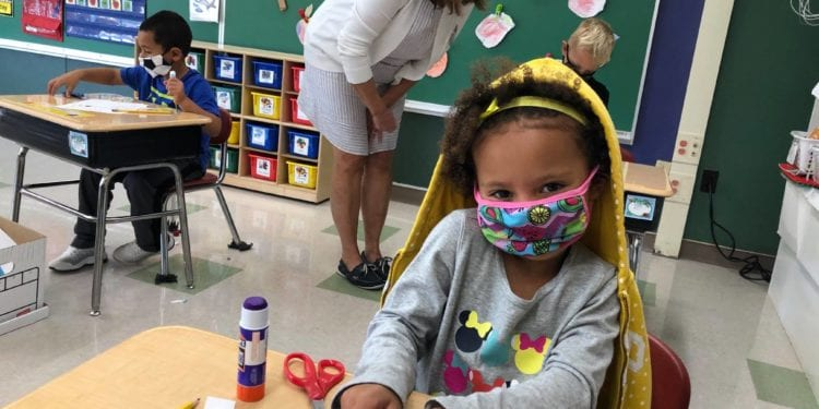 Masks and social distancing are both the norm as school started up its first week of classes. Bethlehem Central  School District
