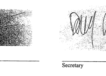 The authorization signatures on the WFP designating petitions