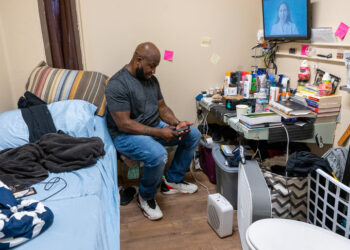 Alexander Chico sits in a converted cell at the Albany County jail. Jim Franco / Spotlight News