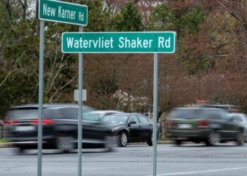 The intersection of Watervliet Shaker and New Karner roads (Jim Franco/Spotlight News)