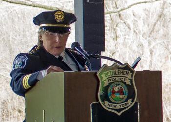 Chief Gina Cocchiara at Bethlehem Police Department Awards April 19.