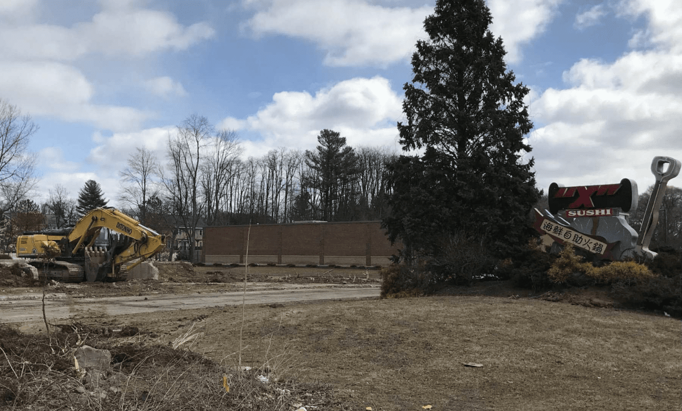 The former site of Sushi X on Central Avenue in Colonie (Jim Franco / Spotlight News)
