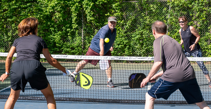 Pickleball players at Milton Park in the Village of Colonie (photos by Jim Franco / Spotlight news)