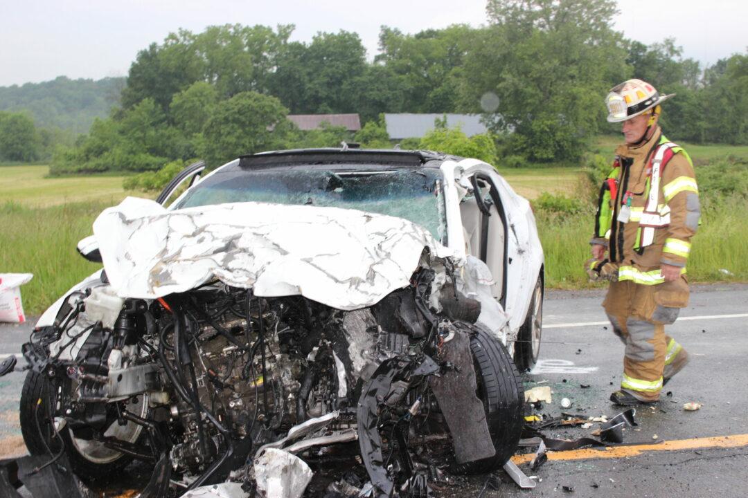 River road crash June 2. Photo by Tom Heffernan Sr.