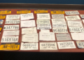 Photo of confiscated fake license plates from the Sheriff's Department