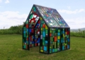 A stained-glass house designed by Brooklyn artist Tom Fruin will serve as the altar for 100 weddings at the Beekman Farm in Sharon Springs on Saturday, June 26. Photo: Beekman 1802
