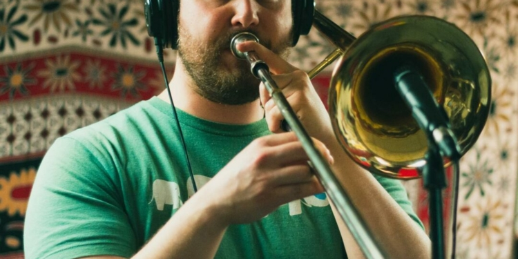 Jonathan Bintz was a music educator by profession, but many more people across the music scene recognized him as the trombone player for Millington. Photo provided by Millington
