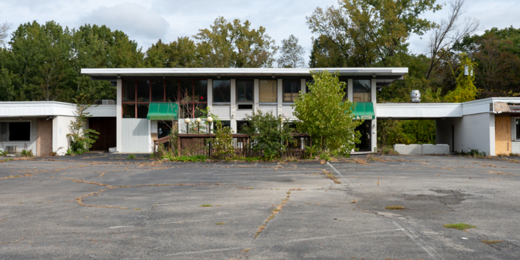 The former Cocca's Hotel and Suites on Route 7 (Jim Franco/Spotlight News)